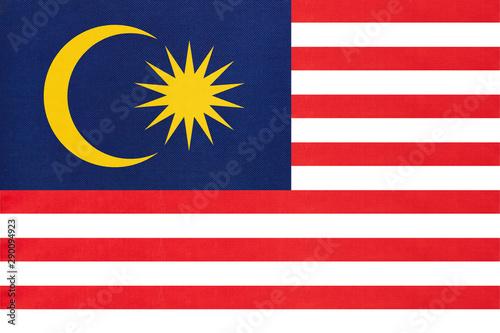Cuadros en Lienzo  Malaysia national fabric flag textile background