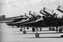 T-38s And UH-60 On Flightline