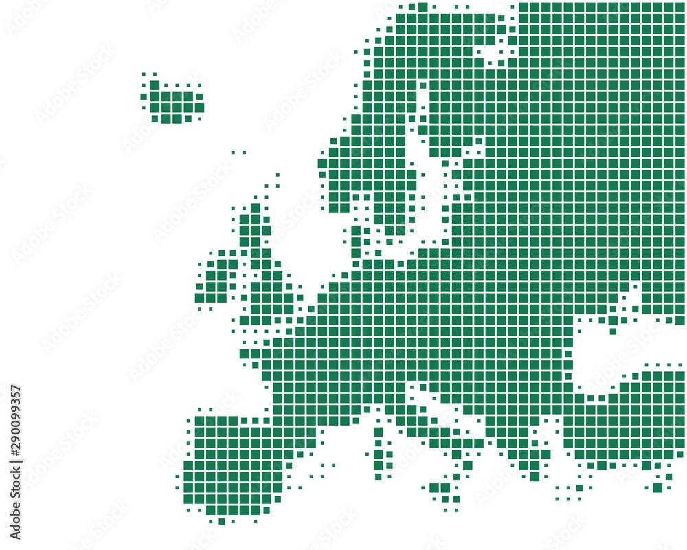 Fototapety, obrazy: Karte von Europa