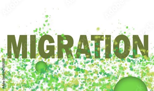 Fényképezés  Einwanderungsbewegung