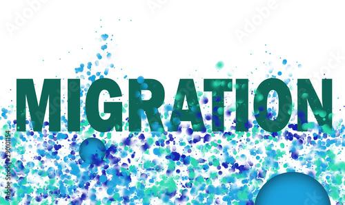 Migration, einwandern Canvas-taulu