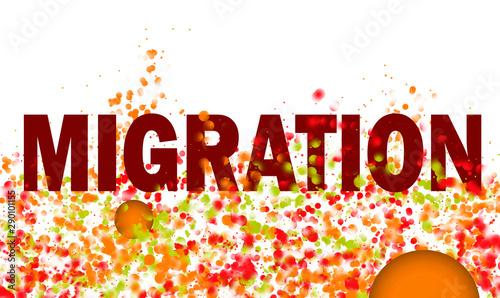 Migration Bewegung Fototapet