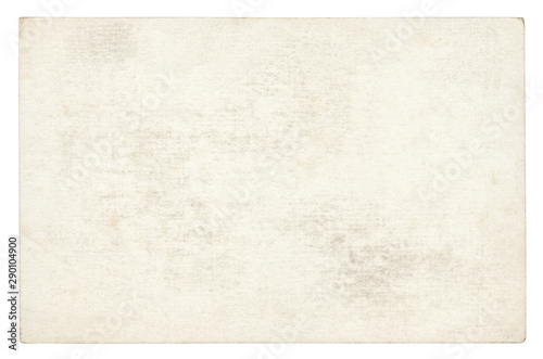 Obraz na plátně  Vintage paper background isolated - (clipping path included)