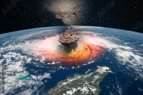 Photo Epicenter of a nuclear explosion, armageddon for planet Earth