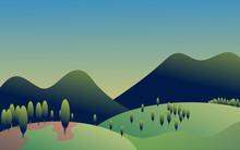 Beautiful Landscape Illustrati...
