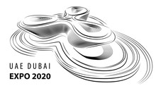 UAE Dubai Expo 2020 BIG Foster Partners Grimshaw Pavilion Designboom, A Minimal Style Of Dubai Skyline Concept In The Year 2020, Background Flat Horizontal Space Banner Vector Illustration Dubai Moder