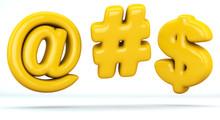 Arroba Sign, Hashtag Sign, Dol...