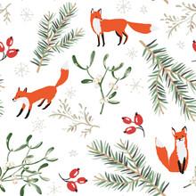 Christmas Seamless Pattern, Wh...