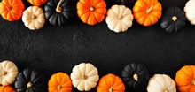 Autumn Pumpkin Double Border B...