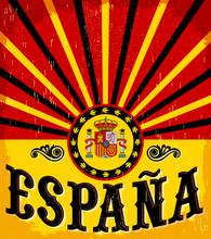 Espana, Spain Spanish Text Vin...