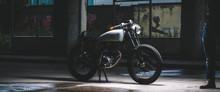 Vintage Retro Motorbike In A G...
