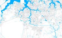 Rich Detailed Vector Map Of Chesapeake, Virginia, U.S.A.