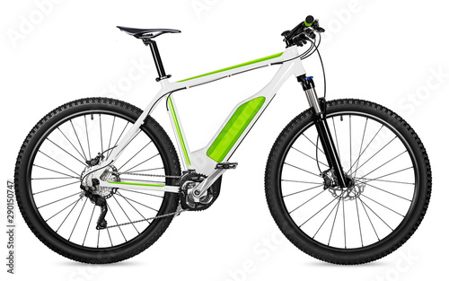 fantasy fictitious design of an ebike pedelec with battery powered motor bicycle moutainbike Canvas Print