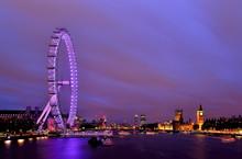 City Skyline And London Eye At...