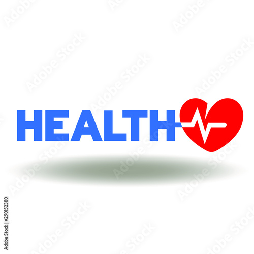 Fotografie, Tablou  Health care heart rate icon vector