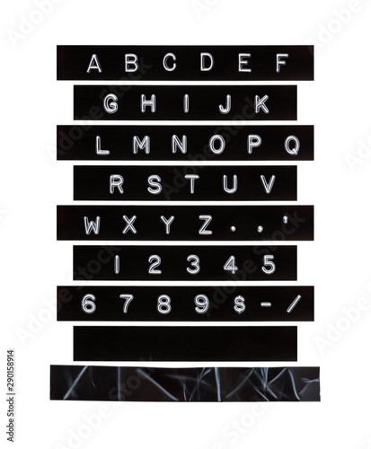 Fototapeta Embossed Alphabet Letter Tape