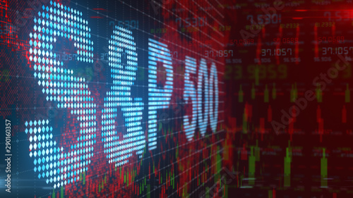 Papel de parede  S&P 500 stock market index of companies on stock exchanges in the United States