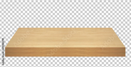 Fotografie, Obraz Perspective view of wood or wooden table top isolated on checkered background in