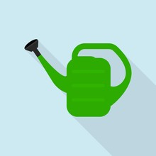 Watering Can Icon. Flat Illust...