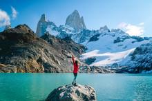 Tourist Woman On Mount Fitzroy...