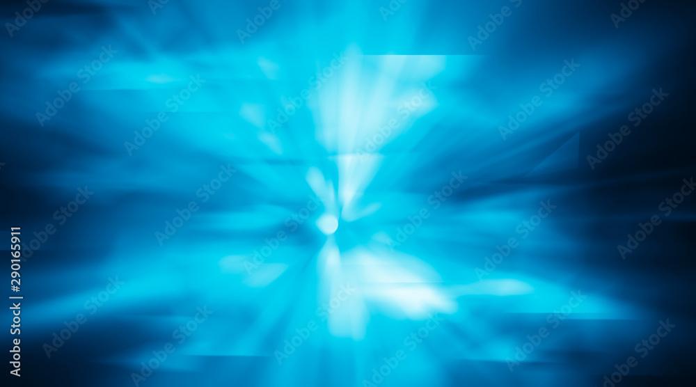 Fototapety, obrazy: Blue motion sparkle light backdrop. Blurred of blue background.