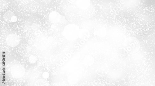 Fotografiet  white and grey snows blurred abstract background