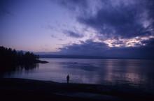 Landschaft Am Oslo-Fjord (Hvervenbokt) Nahe Dem Vorort Holmlia Bei Oslo..***Aufnahmedatum Geschätzt***