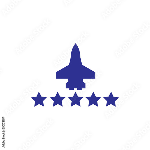 Valokuvatapetti Air Force logo design vector