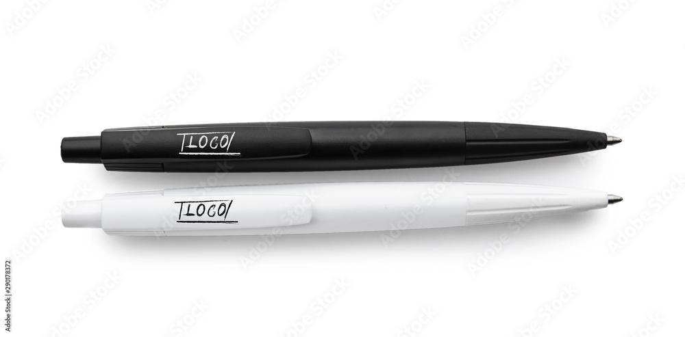 Fototapety, obrazy: Stylish pens on white background