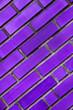 Leinwanddruck Bild - Texture of purple brick wall