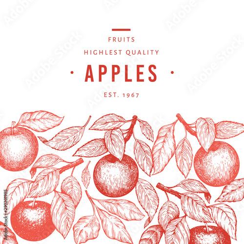 Valokuvatapetti Apple branch design template