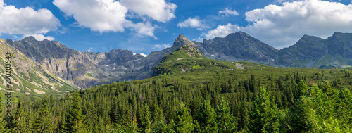 Obraz View of the Tatras mountains. Poland. - fototapety do salonu
