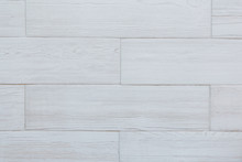 White Tile Wood Surface As Bac...