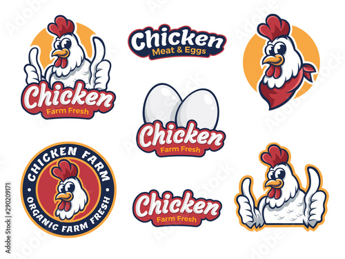 Photo Fried chicken restaurant logo template