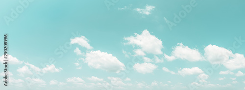Panorama blue sky and clouds natural background. - 290209996