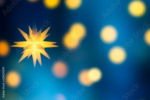 Fotomural leuchtender weihnachtsstern