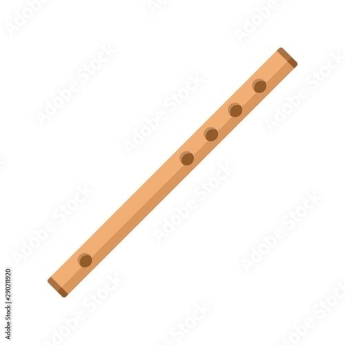 Fotografia, Obraz Wood flute icon