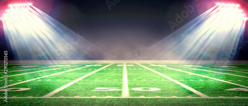 Perspective of football field Tablou Canvas
