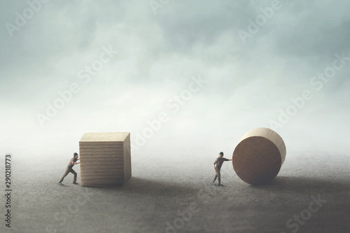 two man with different business strategies Fototapeta