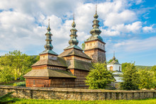 View At The Wooden Church Mother Of God In Owczary Village - Poland