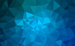 Modern blue abstract polygonal background. Geometric texture background
