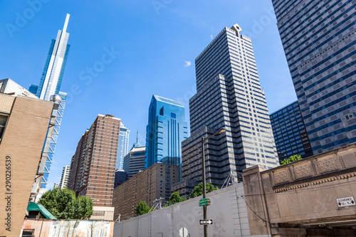 Highrise buildings in Philadephia, USA downtown. Canvas Print