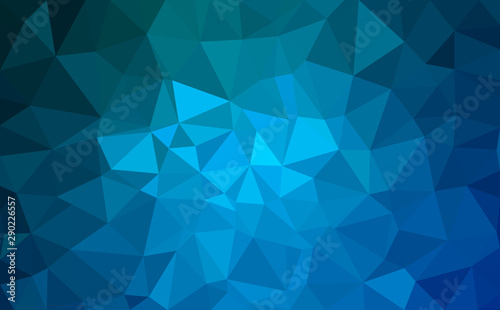 Fototapeta Modern blue abstract polygonal background. Geometric texture background obraz