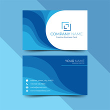Modern Blue Business Card Desi...