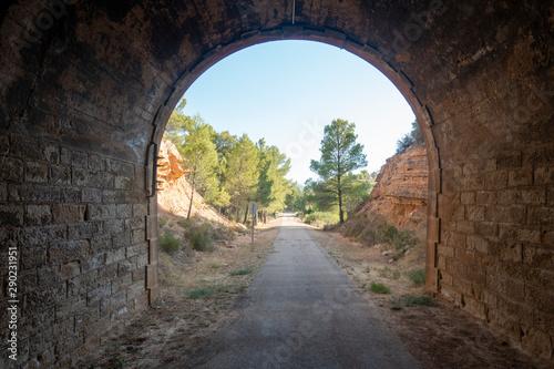 Greenway of the terra alta in Tarragona Tablou Canvas