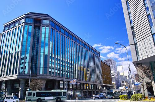 京都市四条烏丸通り交差点の景観 Fototapete