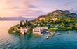 Leinwandbild Motiv Punta San Vigilio, Verona province, Garda Lake, Veneto, Italy