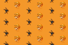 Black Spiders And Halloween Pu...
