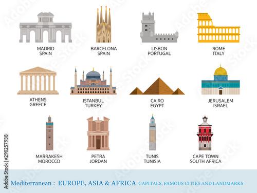 Fototapeta Mediterranean Europe, Africa, Asia Cities Landmarks