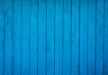 Blue wood background, old wooden wall, painted texture wood